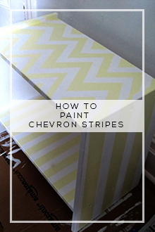 Cheap & Easy Before & After:  How to Paint Chevron Stripes