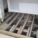 Living Room La Vida Loca Part Dos:  Replacing & Refinishing the Floorboards