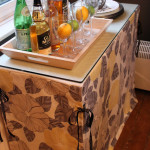 Adventures in Sewing:  Console Table Skirt