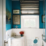 The Transformative Power of Paint:  Peacock Blue Bathroom