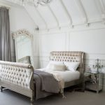 Bed Lust:  Tufted Sleigh Bed from Sweetpea & Willow