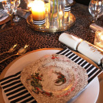 Christmas Table: Black and White and Leopard Print all over