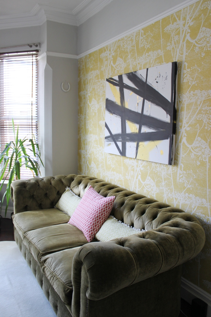 Black White Gold Living Room Decor: Adventures In Painting: Black White And Gold Abstract