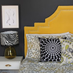 Bedroom Brightness:  Hollywood Regency Headboard Reveal