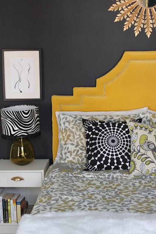 Bedroom Brightness:  Hollywood Regency Headboard Reveal
