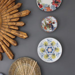 Wall Flowers:  Decorative Plates in the Dining Room