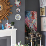 Dining Room Updates: Bamboo Chairs, Window Dressings, Prints and Colour!