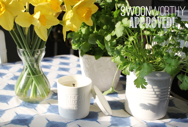Take a look at what I thought about The White Company candles in the Fresh Thyme scent