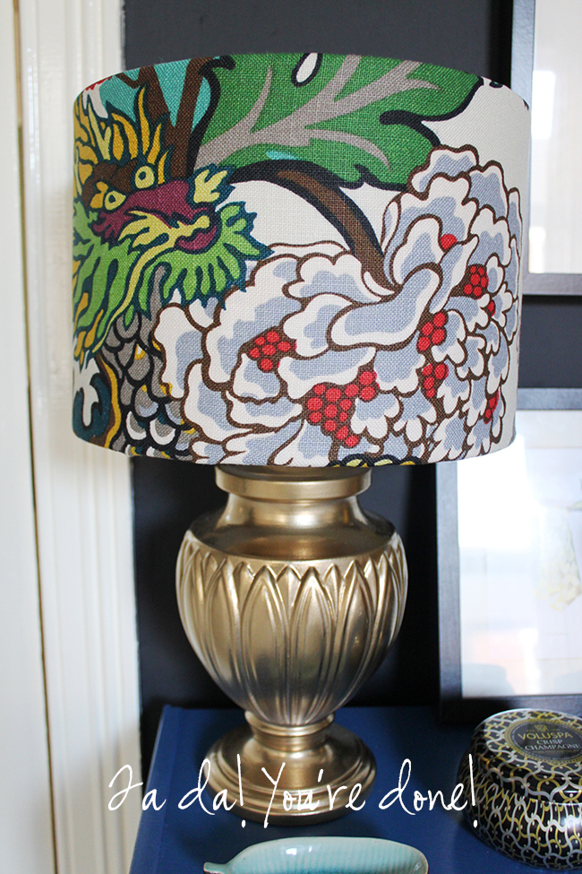 Fed up of boring lampshades? Check out my easy peasy tutorial on how to make a lampshade cover with fabric.