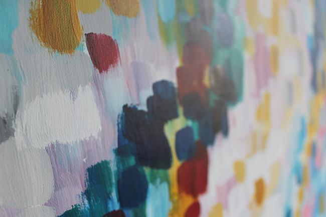 Adventures in Painting:  Confetti, Rising