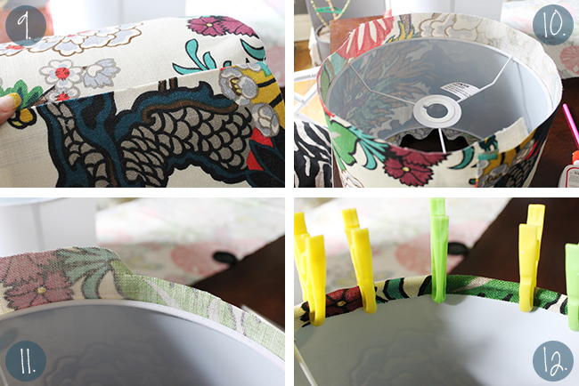 Follow my easy peasy tutorial and find out how to make a lampshade cover with fabric.