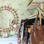 Budget Friendly:  New Shelves and Leigh Viner Prints for the Dressing Room