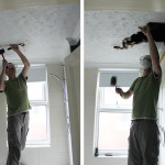 Operation Bathroom Remodel: Ripping Down the False Ceiling