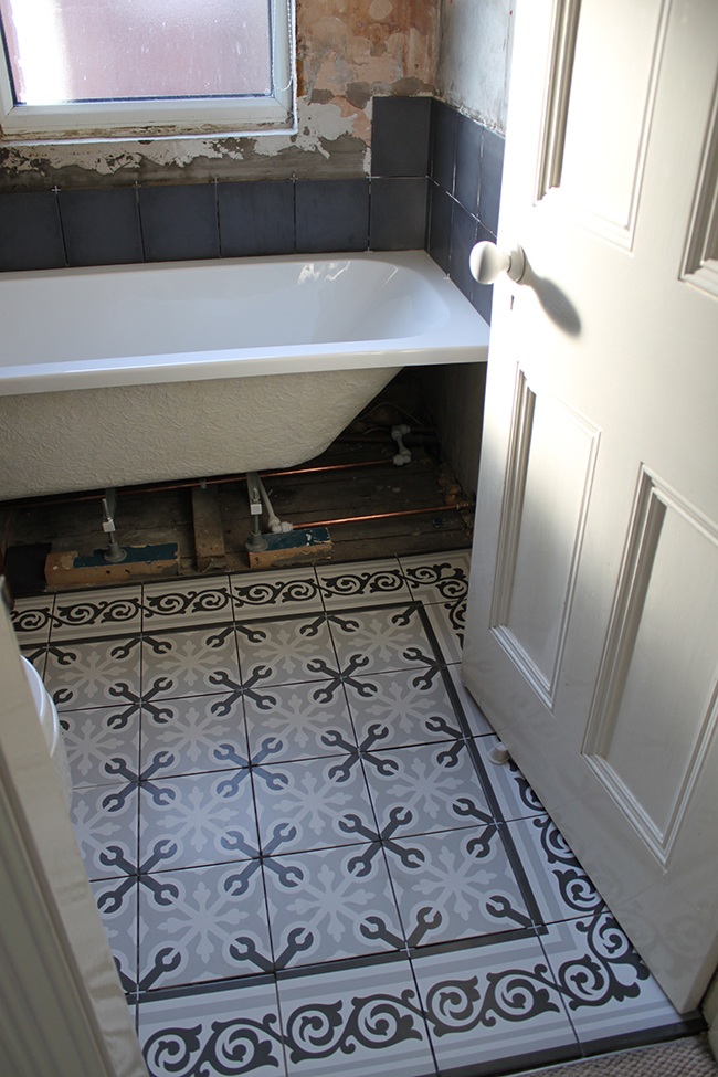 Operation Bathroom Remodel Tiles A Working Sink And