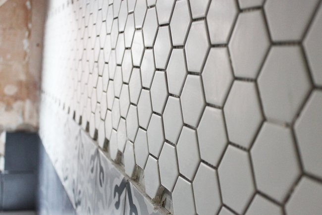 operation bathroom remodel hex tile gratification swoon worthy