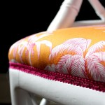 Reveal: Dining Room Chairs in Manuel Canovas Bengale Paprika Fabric – FINALLY!