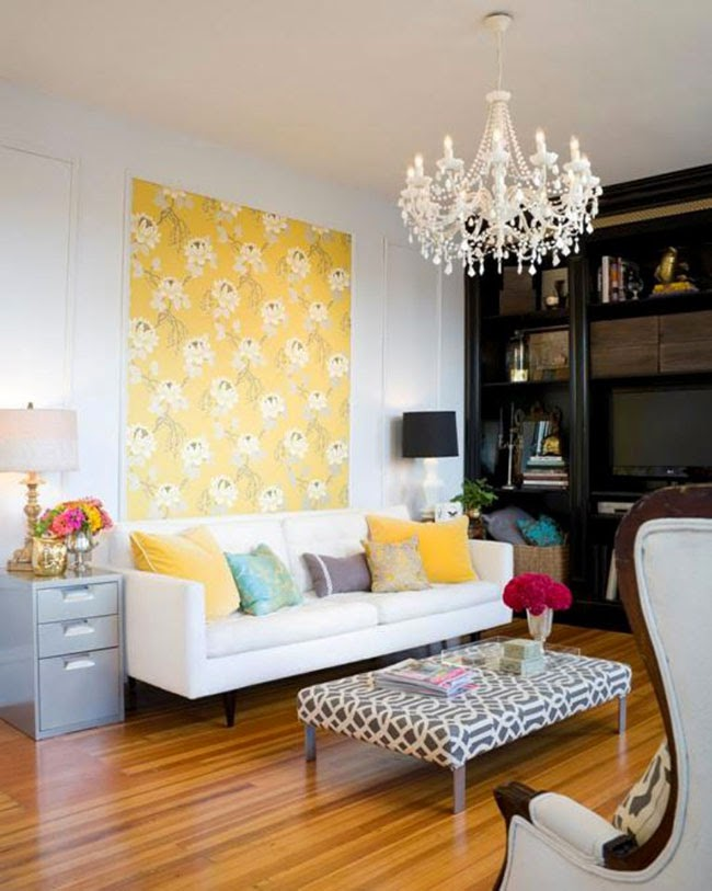 Wallpaper Panel Inspiration: Plans for the Living Room - Swoon Worthy