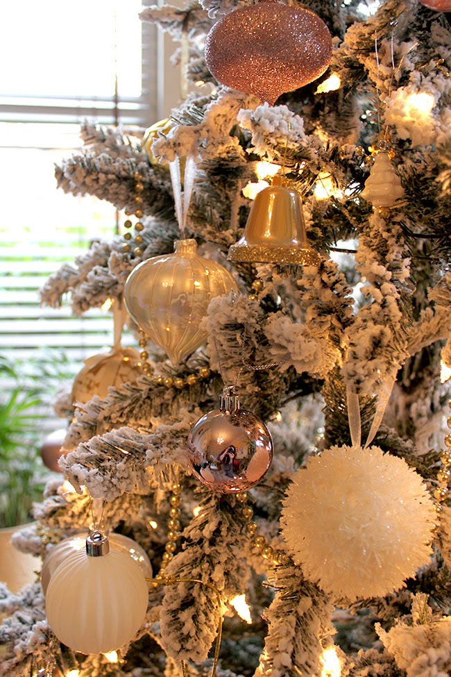 The Obligatory Christmas Tree Pictures In Blush Pink Gold And