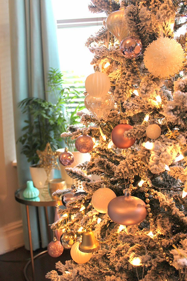 The obligatory christmas tree pictures in blush pink for Decoration rose gold