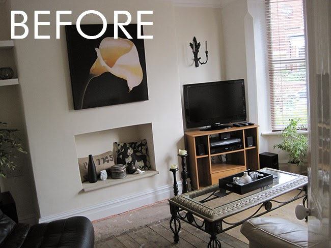 When We First Moved In, We Simply Moved What Had Been In Our Old Living Room  Into Our New One. The Floors Were Unfinished And The Paint Colour Was  Already ...