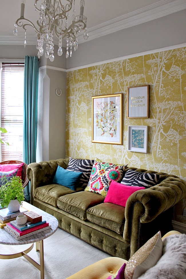 Tying together all of the colours in our living room with a gorgeous new print from Cozamia