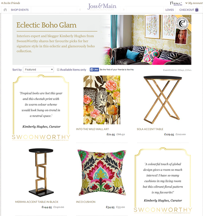 Eclectic Boho Glam   Top picks by expert interiors blogger SwoonWorthy   Joss and Main