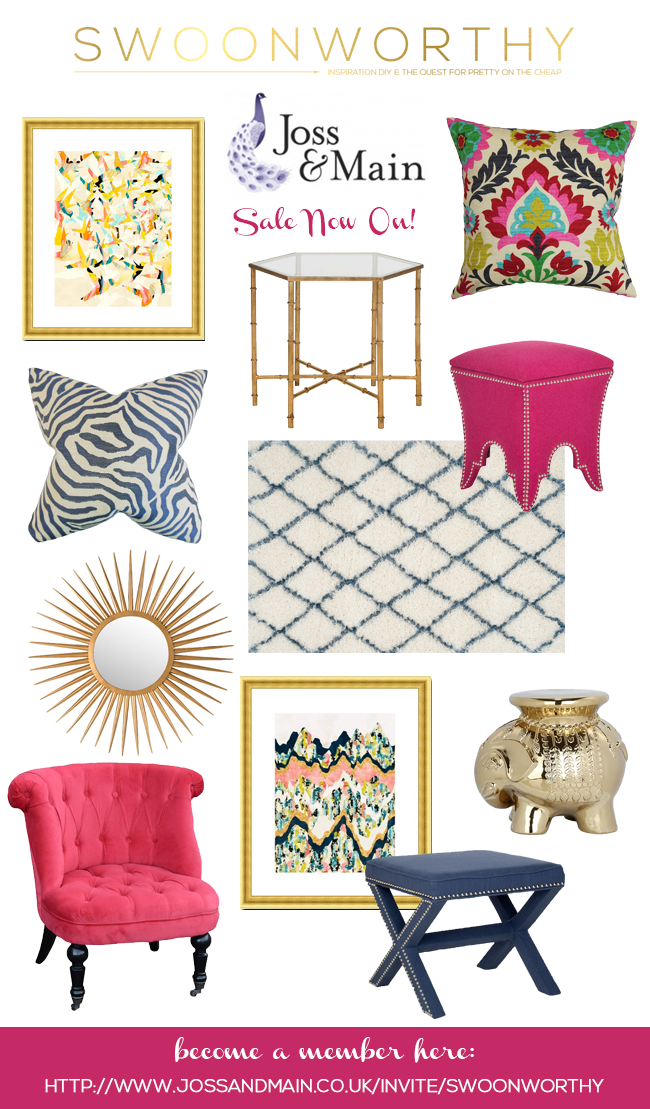 Swoon worthy curated sale today at joss main uk swoon for Joss and main contact