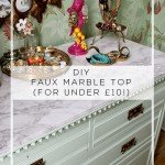 "Dressing Room Mini-Makeover: How to DIY a ""Carrara Marble Slab"" for Under a Tenner!"