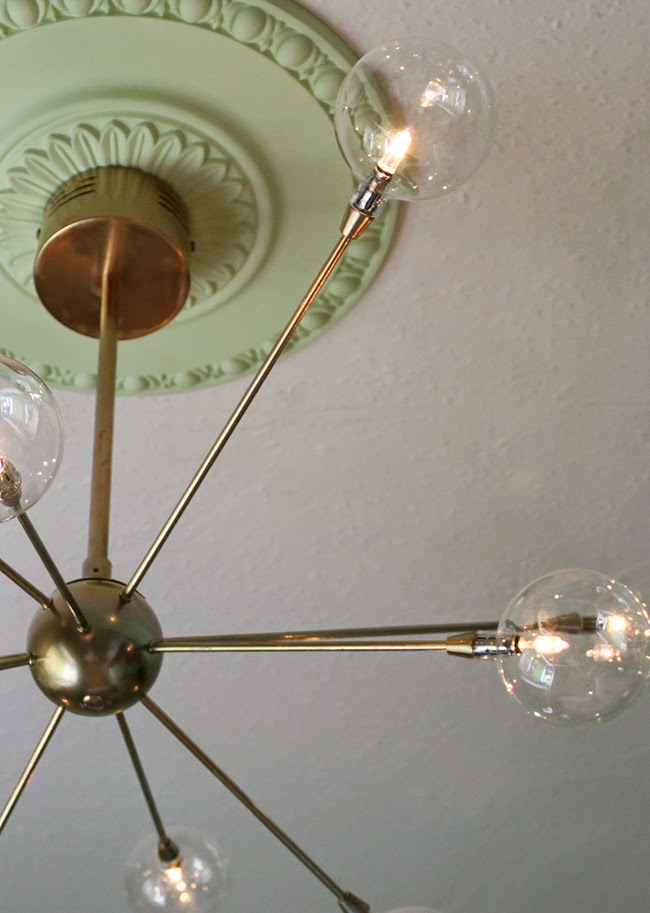 Dressing Room Mini-Makeover: My new 'Mini' Sputnik