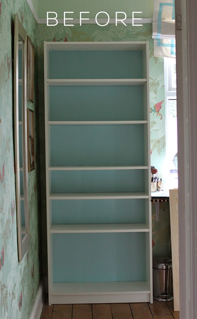 I've given my Ikea Billy bookcase a little makeover, check out the before and after!