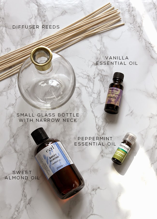 What you'll need to make a home fragrance diffuser with essential oils