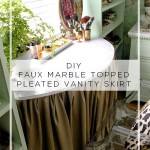 Dressing Room Mini-Makeover: DIY Vanity and Pleated Skirt