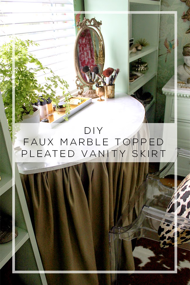 Dressing Room Mini-Makeover: DIY Vanity and Pleated Skirt