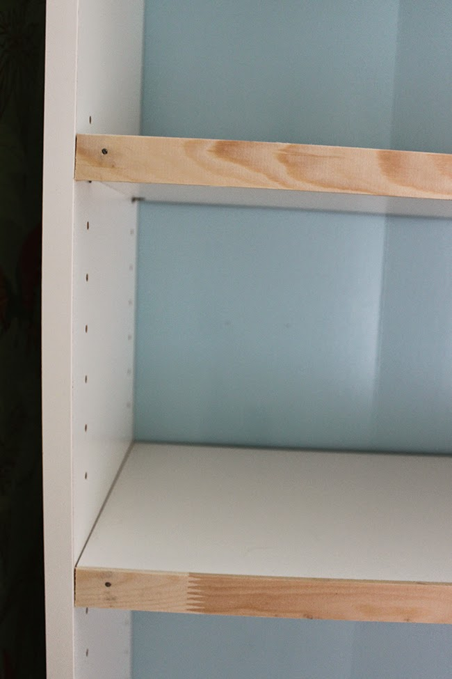 A simple hack to help glam up your Ikea Billy bookcase