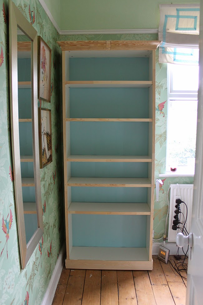 Update your basic Ikea Billy bookcase with my cheap and easy hack