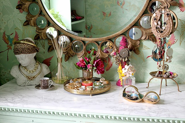 Swoon Worthy eclectic boho glam dressing table