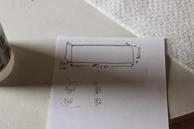 A quick sketch for my dressing room pelmet