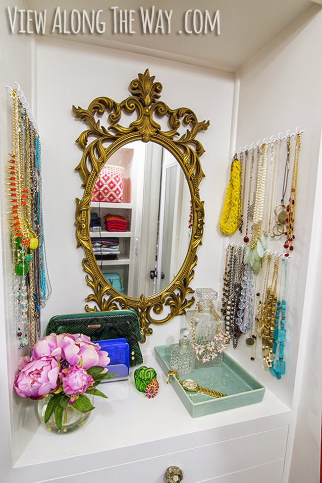 Gorgeous dressing room inspiration from Kelly from View Along the Way.