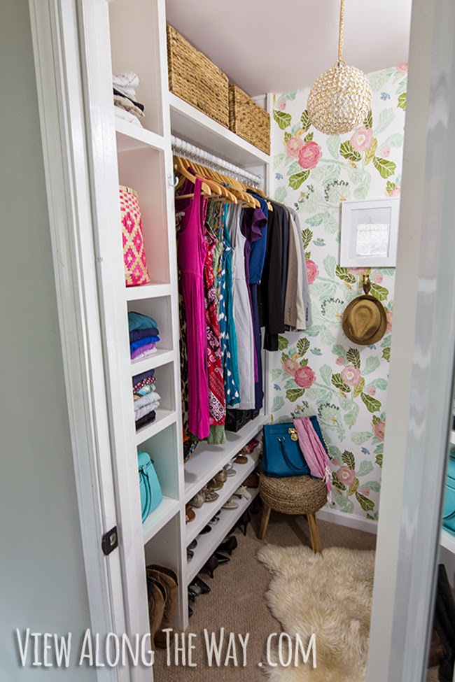 Kelly from A View Along the Way's dreamy girlie dressing room converted from a closet
