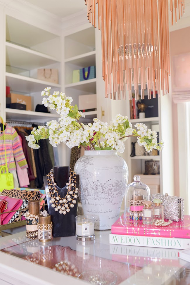 For the ultimate dressing room inspiration take a look at Rachel from Pink Peonies' feminine dressing room/office reveal.