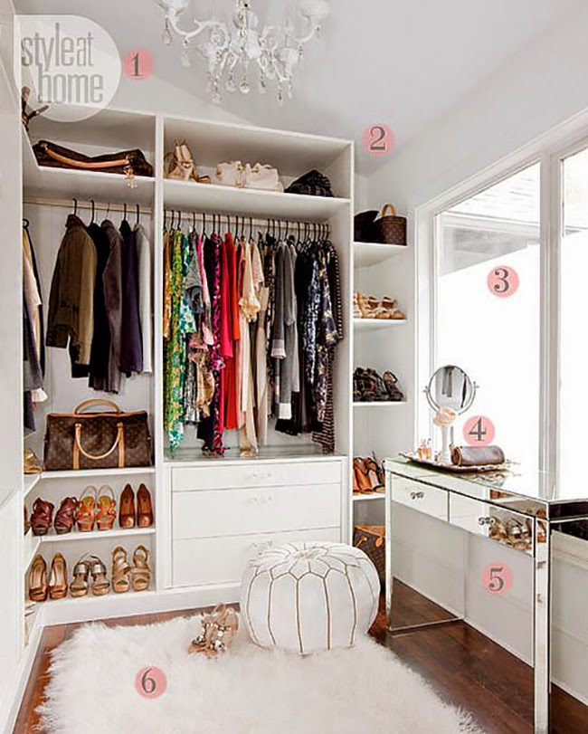 Dreamy dressing room inspiration - wardrobe storage ideas