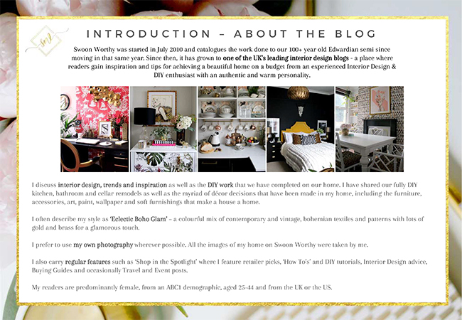 How to Create a Media Kit for Your Blog - Single About Blog Page