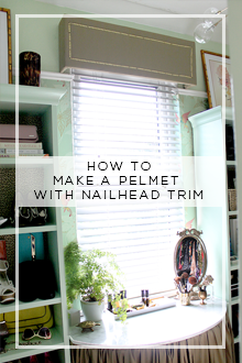 How to Make a Pelmet with Nailhead Trim