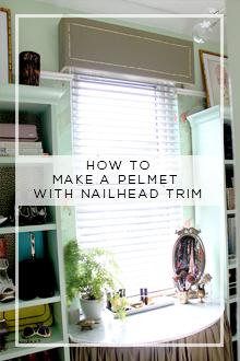 How to Make a Pelmet with Nailhead Trim