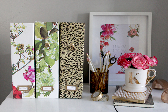 My DIY Ikea Magazine Files are the perfect way to update your office space and create stylish storage solutions