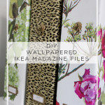 DIY Wallpapered Ikea Flyt Magazine Files