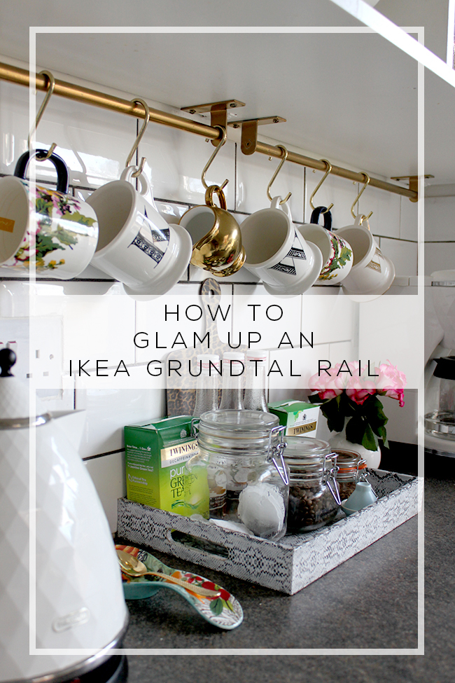How to turn an Ikea Grundtal Rail into something glamorous