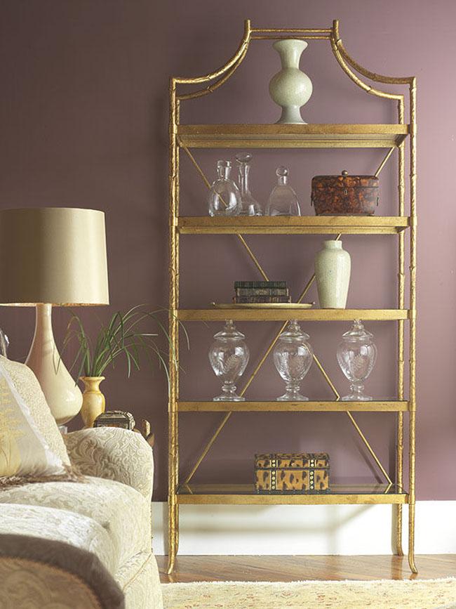 vintage brass etagere