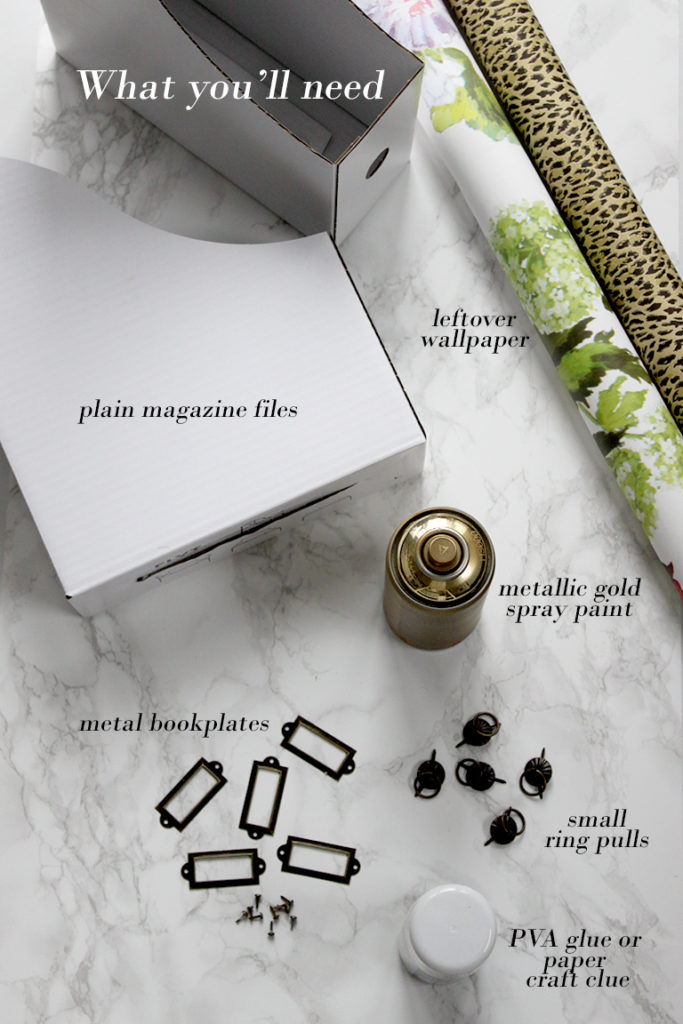 Here's what you'll need to make my DIY Ikea magazine files.