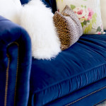 Crushing on Navy Blue Velvet Sofas